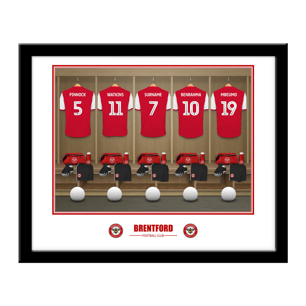 Brentford FC Dressing Room Framed Print