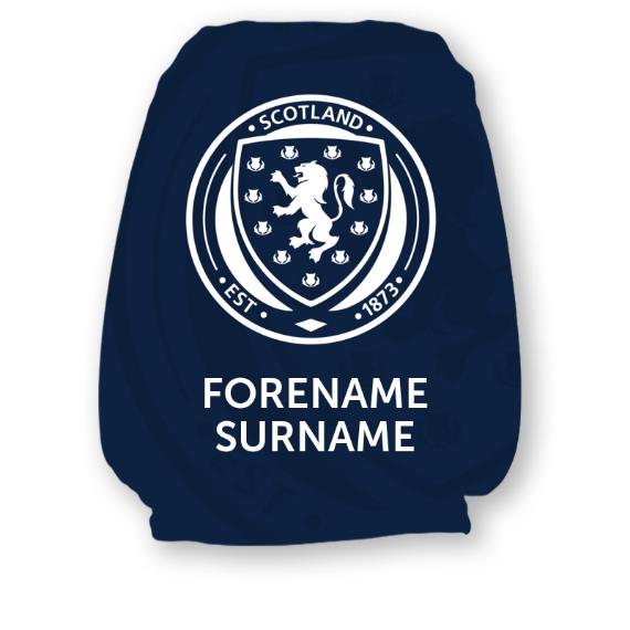 Scotland Mono Crest Headrest Cover