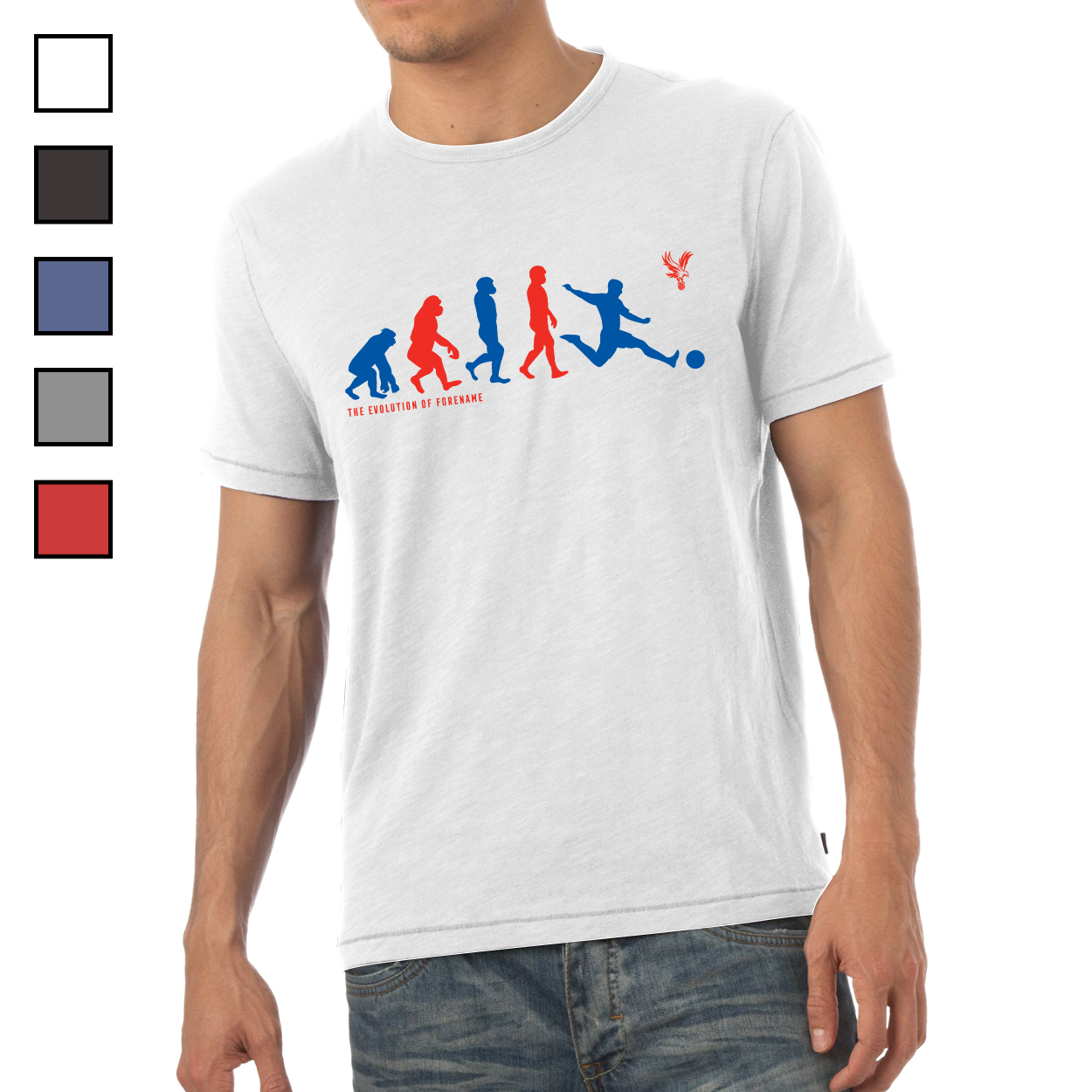 Crystal Palace FC Evolution Mens T-Shirt