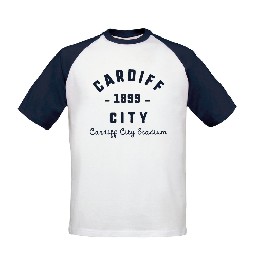 Cardiff City FC Stadium Vintage Baseball T-Shirt