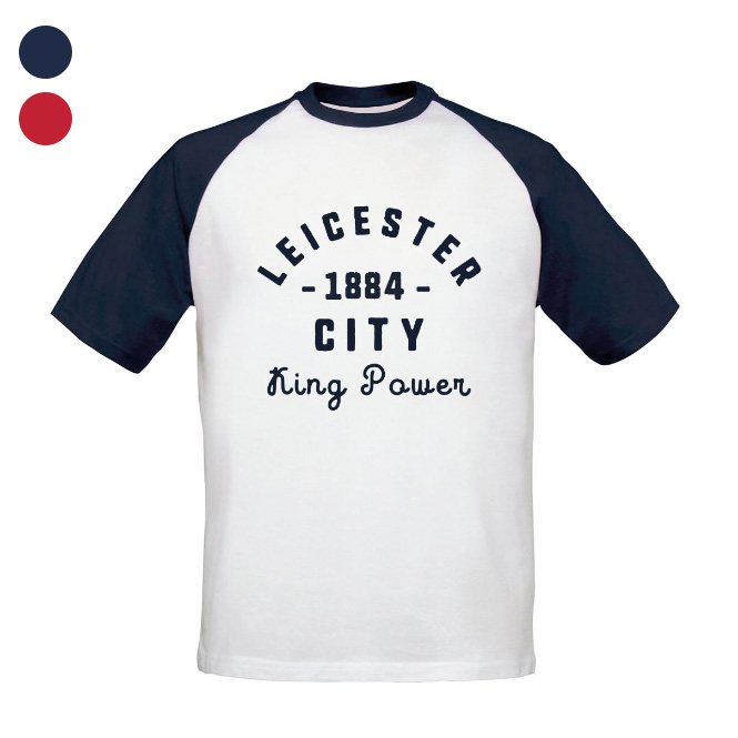 Leicester City FC Stadium Vintage Baseball T-Shirt