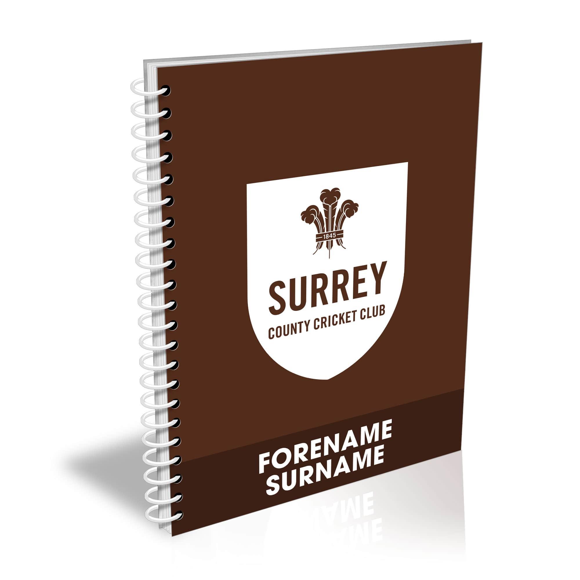 Surrey CCC Bold Crest Notebook
