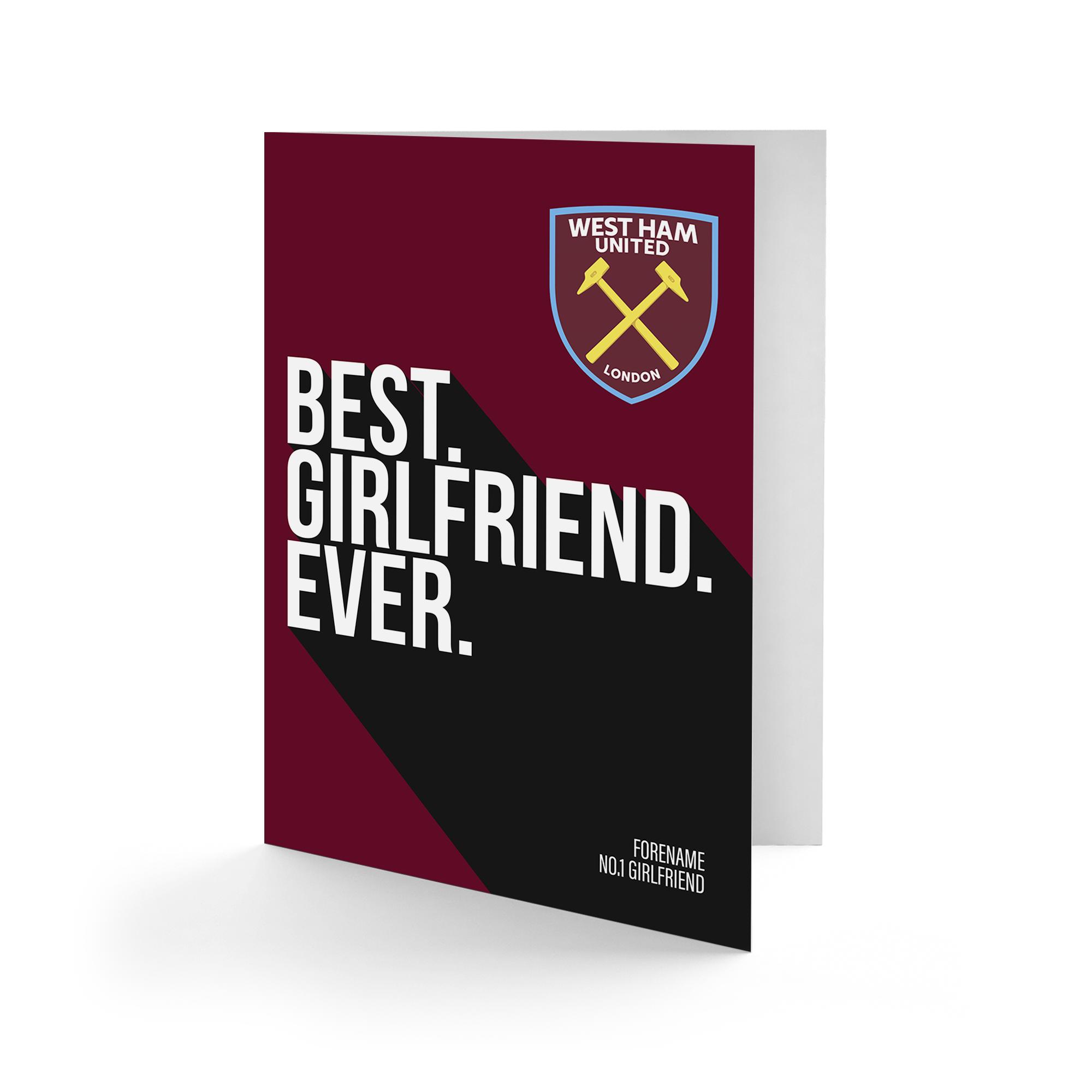 West Ham United FC Best Girlfriend Ever Card