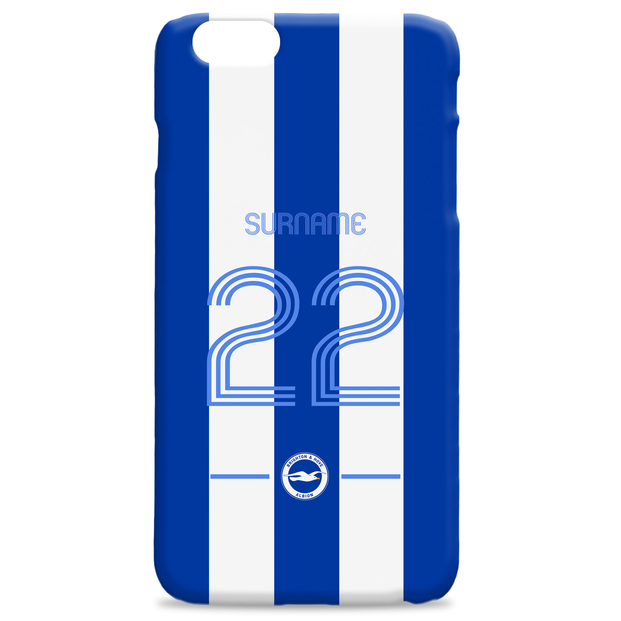 Brighton & Hove Albion FC Retro Shirt Hard Back Phone Case