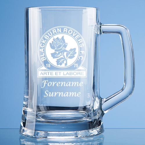 Blackburn Rovers FC Crest Large Plain Straight Sided Tankard