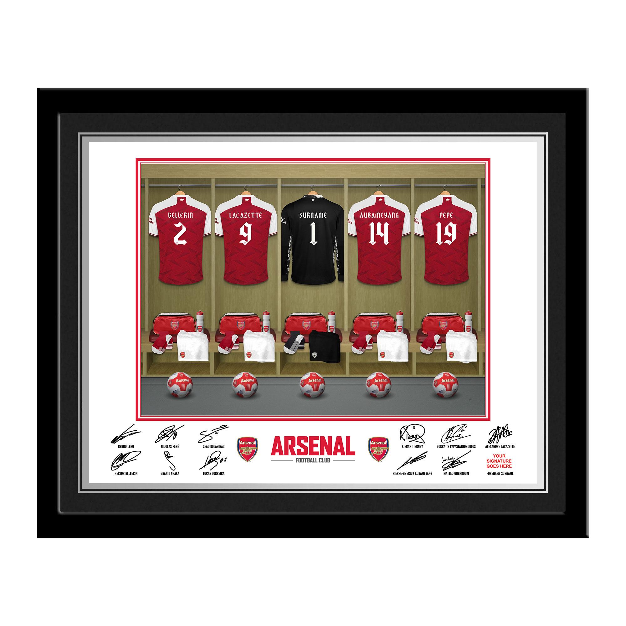 AFC Goalkeeper Dressing Room Photo Framed