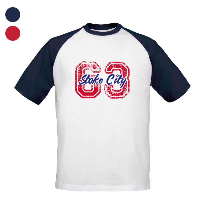 Stoke City FC Varsity Number Baseball T-Shirt