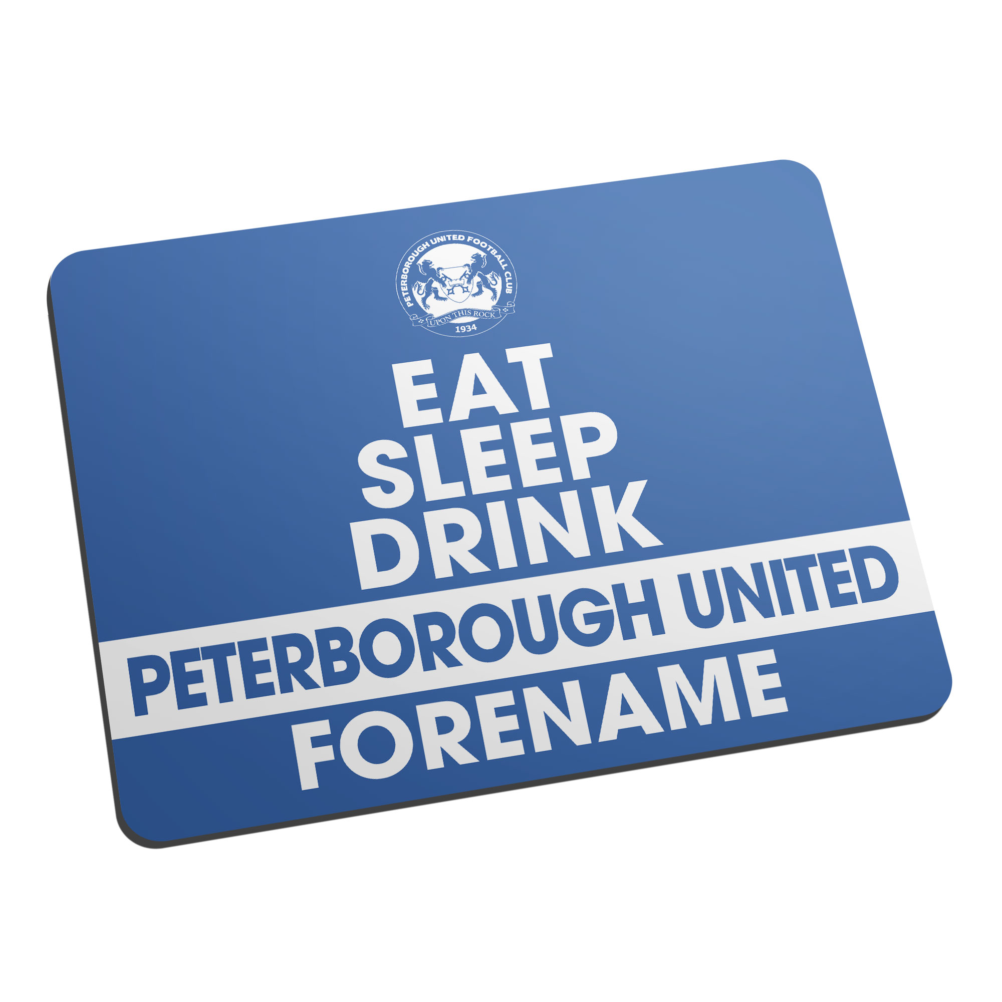 Peterborough United FC Eat Sleep Drink Mouse Mat