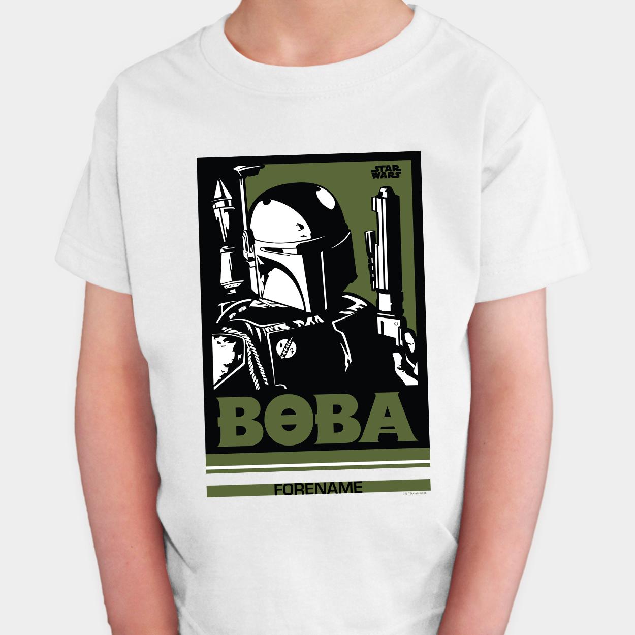Star Wars Boba Pop Art Kids T-shirt