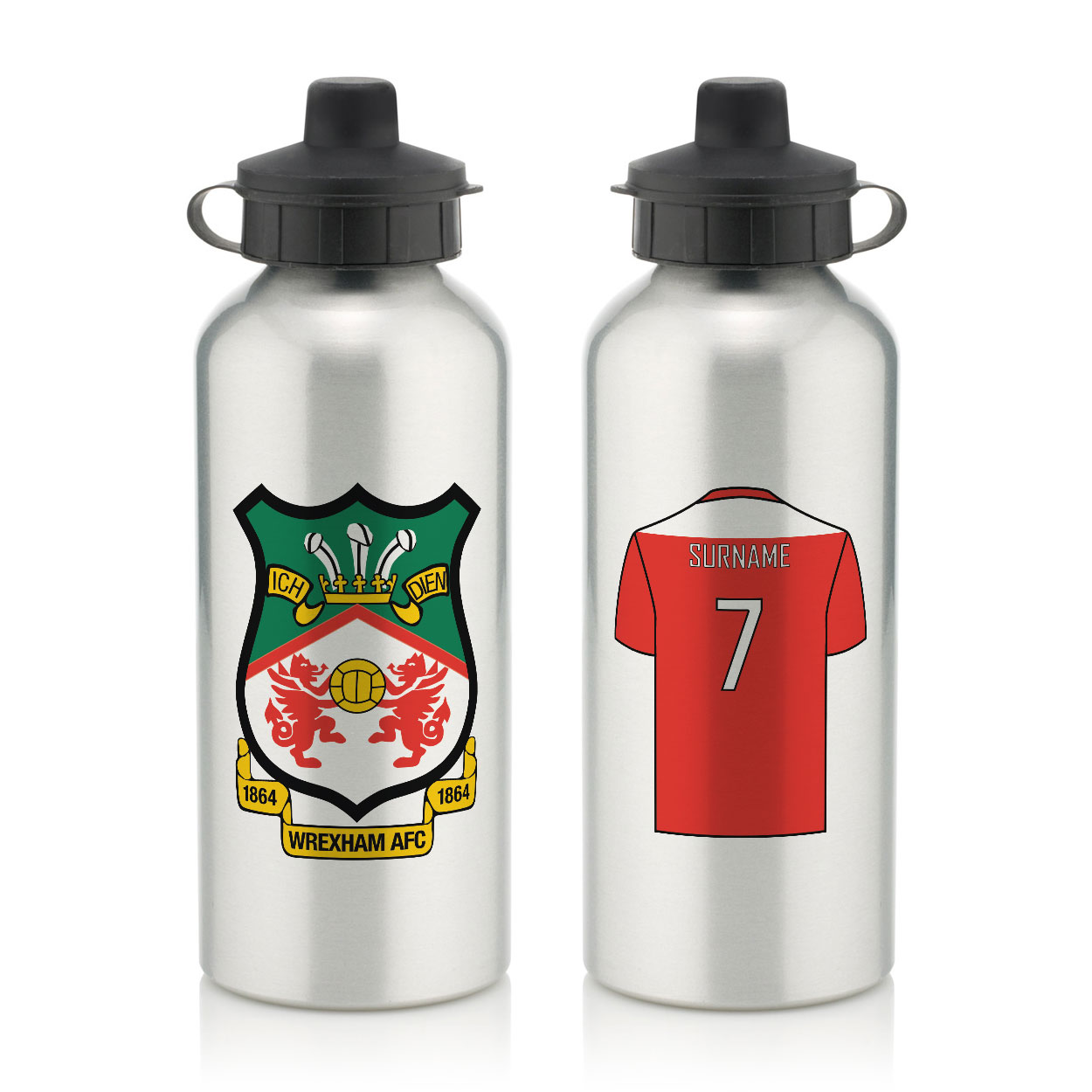 Wrexham AFC Aluminium Water Bottle
