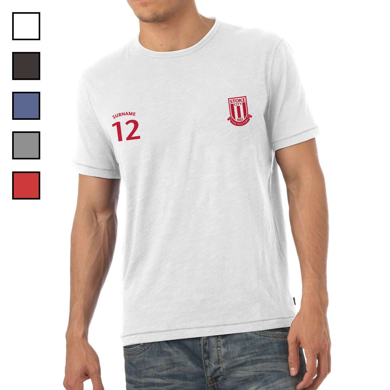 Stoke City FC Mens Sports T-Shirt