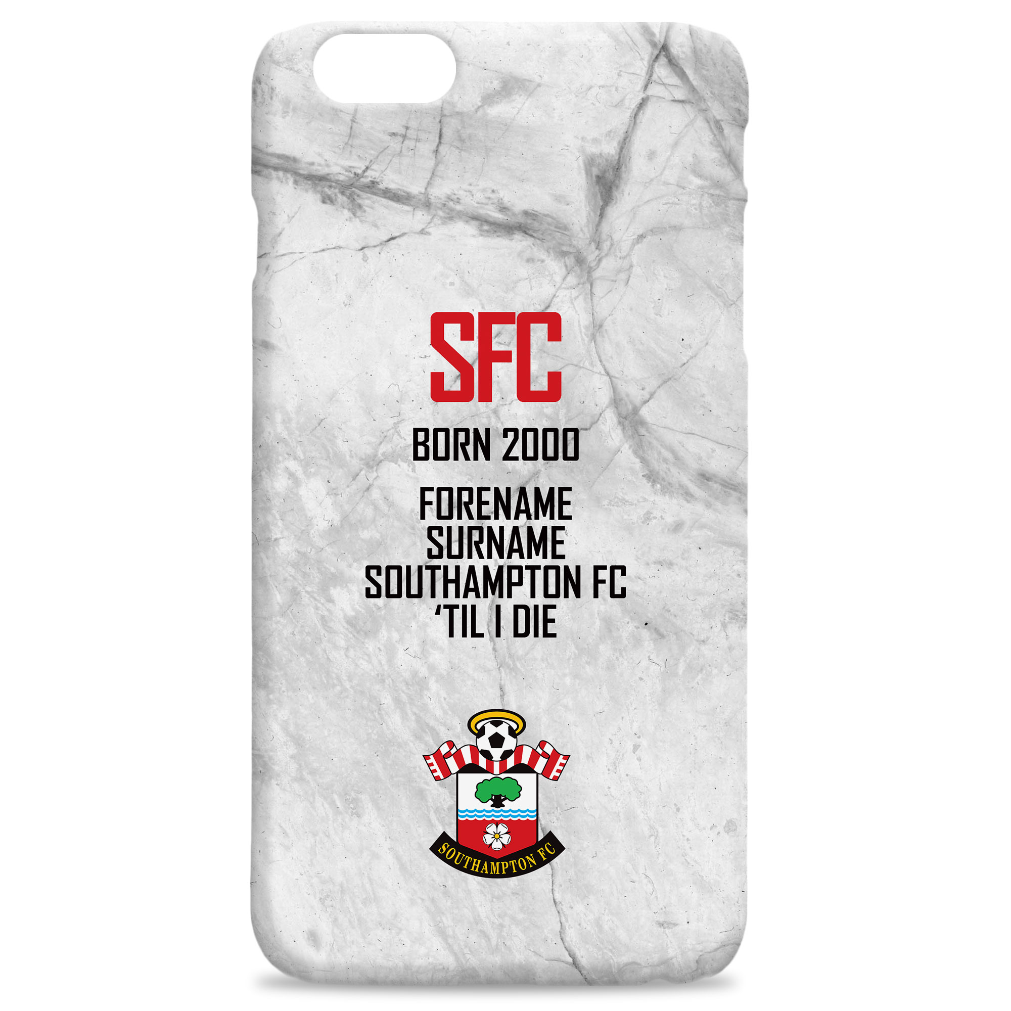 Southampton FC 'Til I Die Hard Back Phone Case