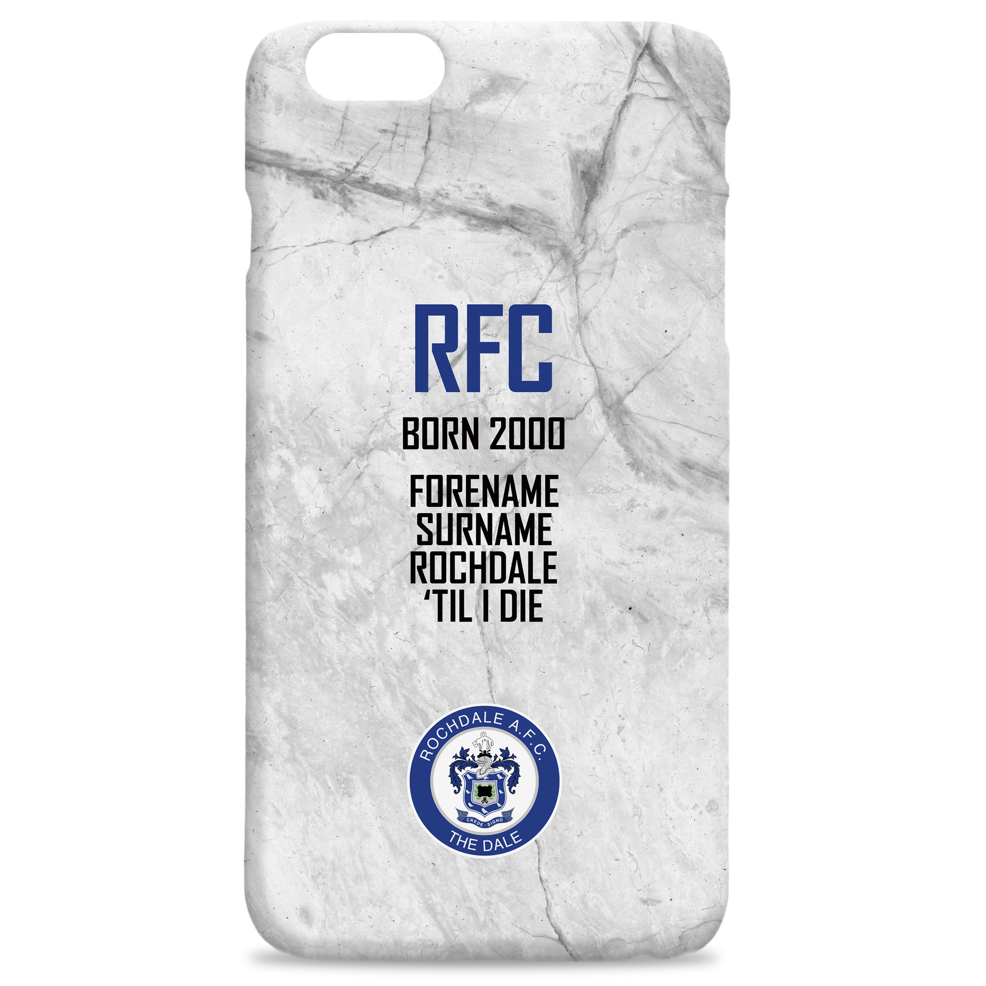 Rochdale AFC 'Til I Die Hard Back Phone Case