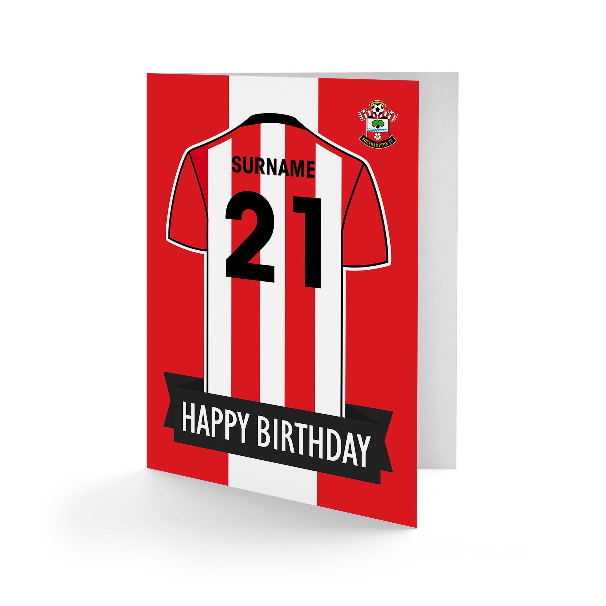 Southampton FC Shirt Birthday Card