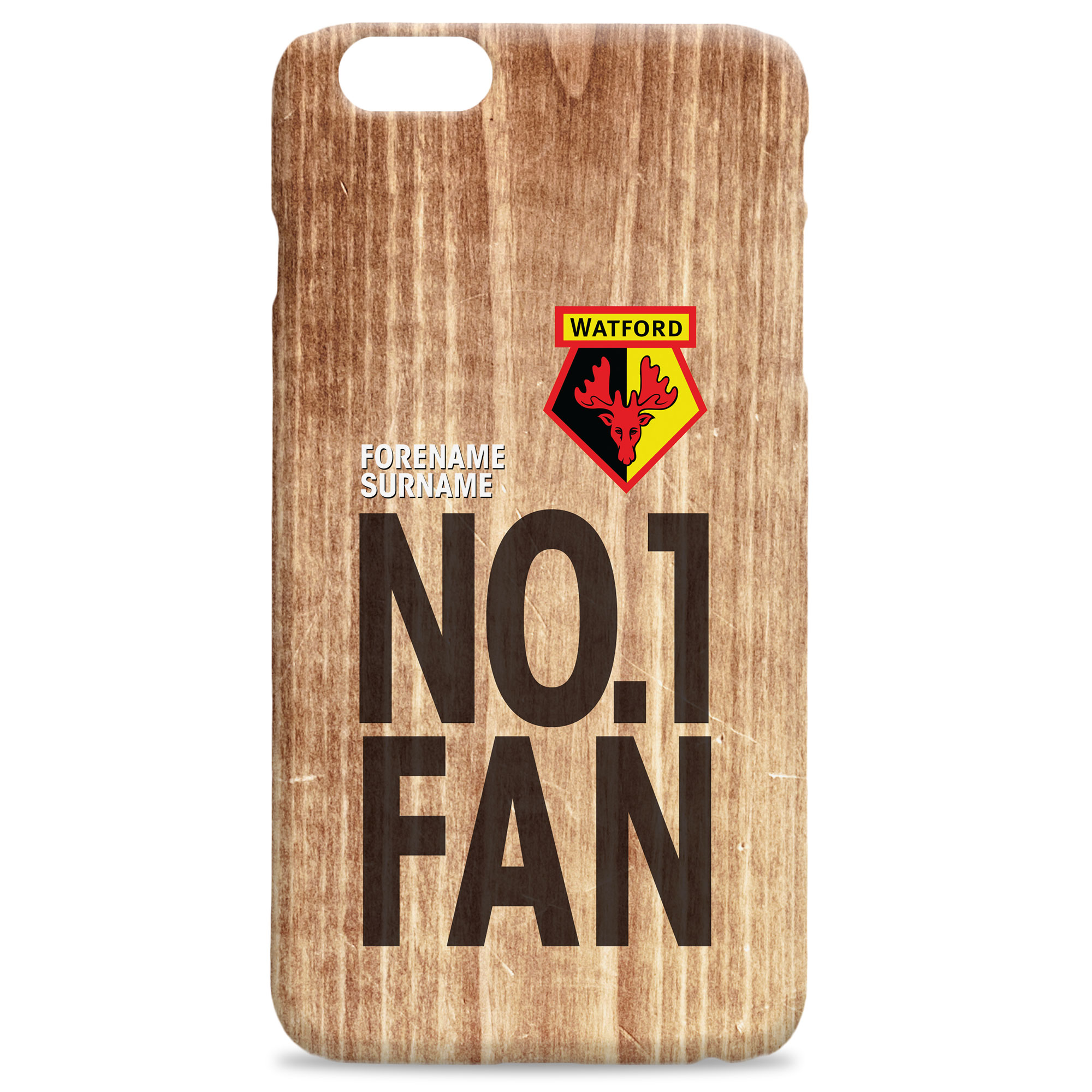 Watford FC No 1 Fan Hard Back Phone Case