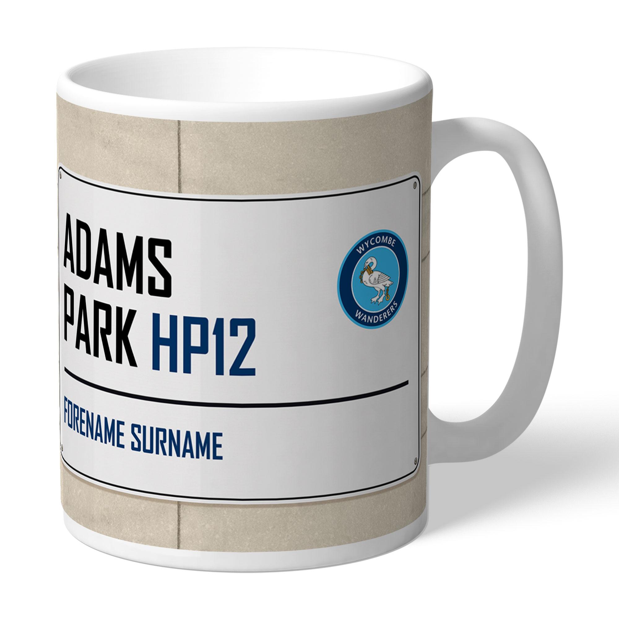 Wycombe Wanderers Street Sign Mug