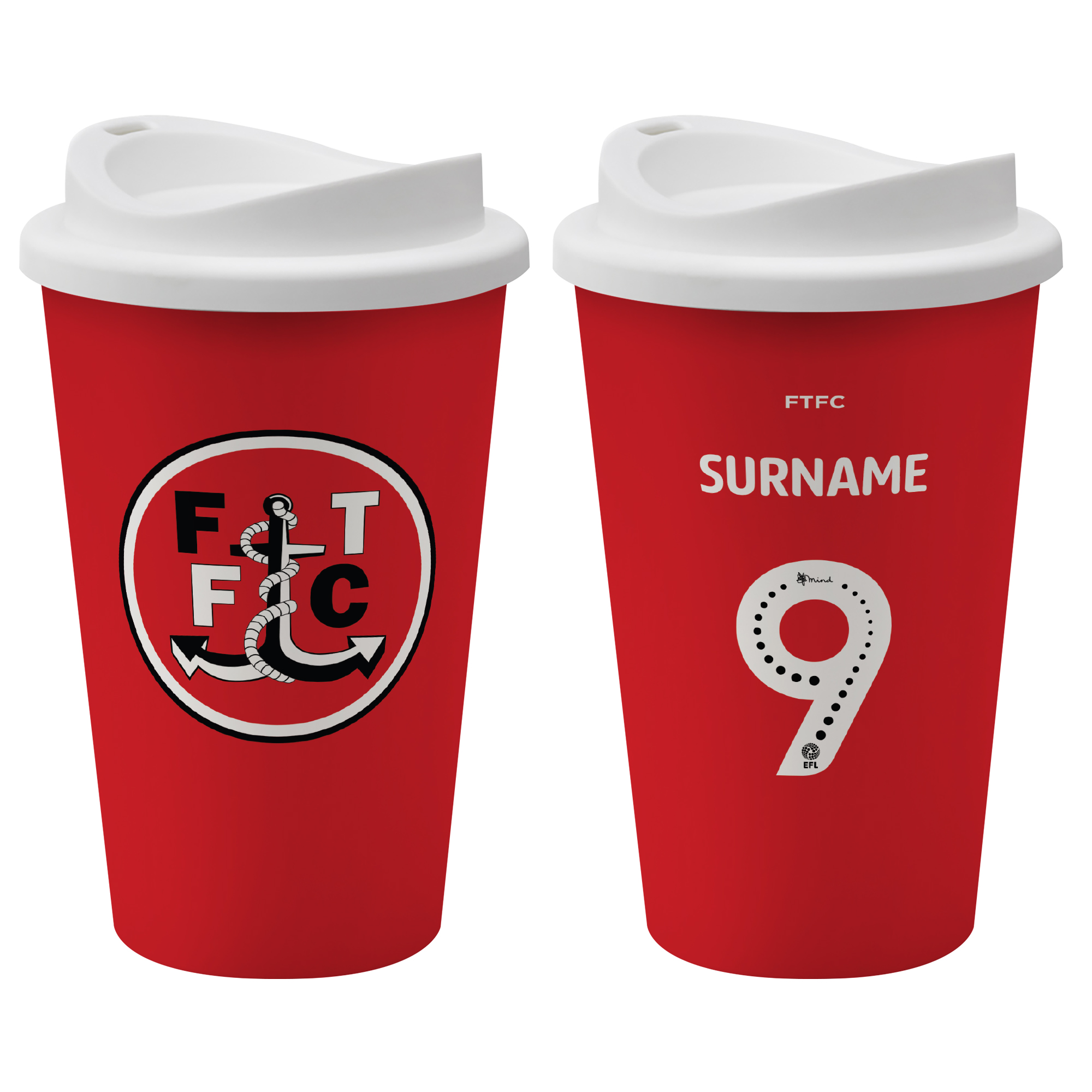 Fleetwood Town FC Back of Shirt Reusable Cup