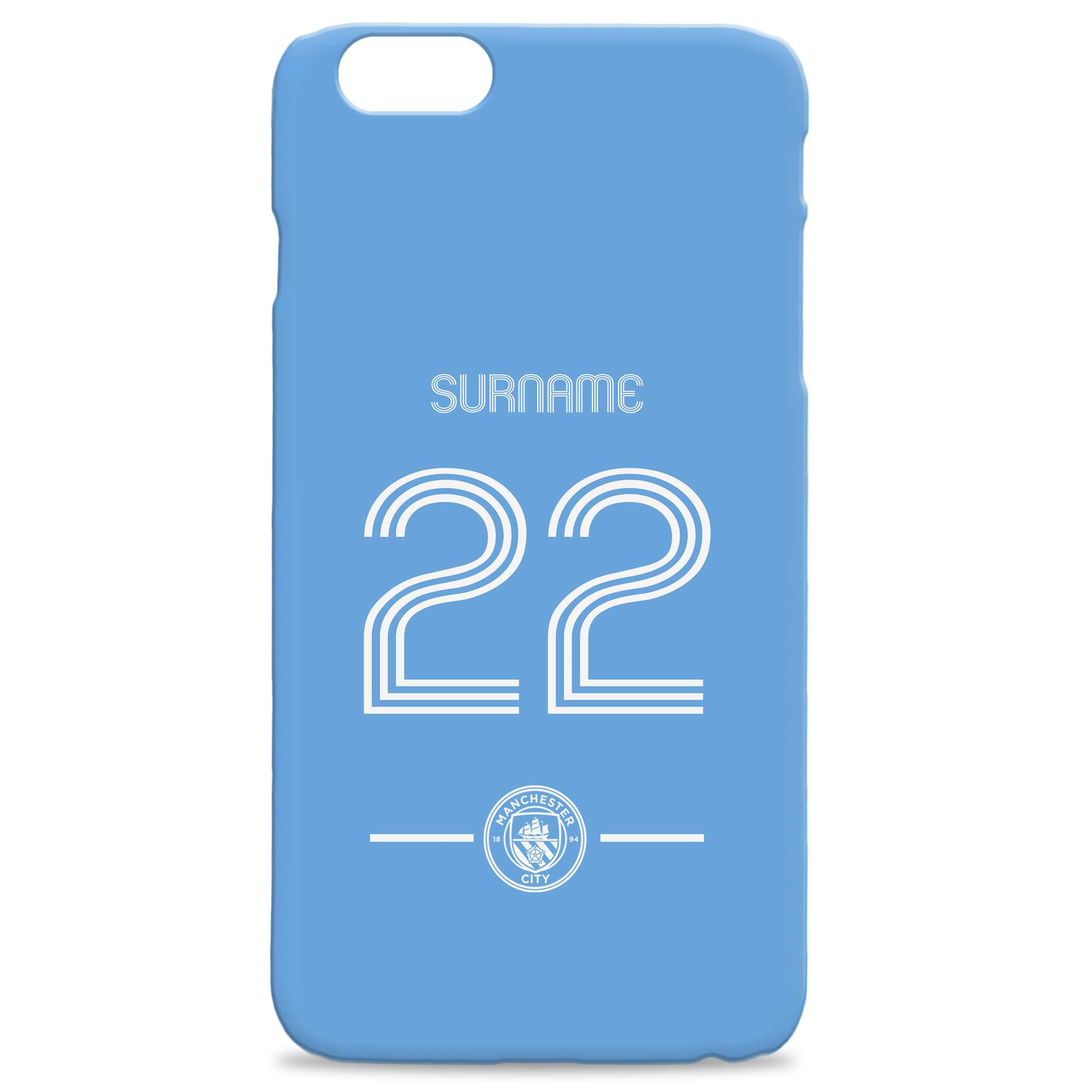 Manchester City FC Retro Shirt Hard Back Phone Case