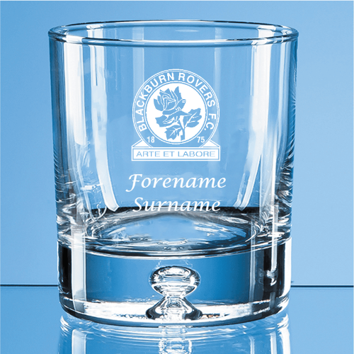 Blackburn Rovers FC Crest Bubble Base Whisky Tumbler