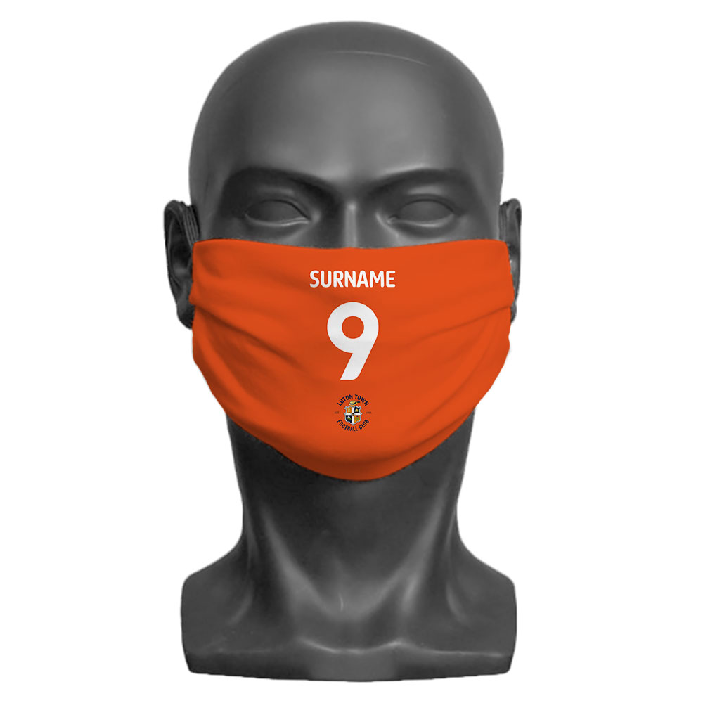 Luton Town FC Back of Shirt Adult Face Mask (Large)