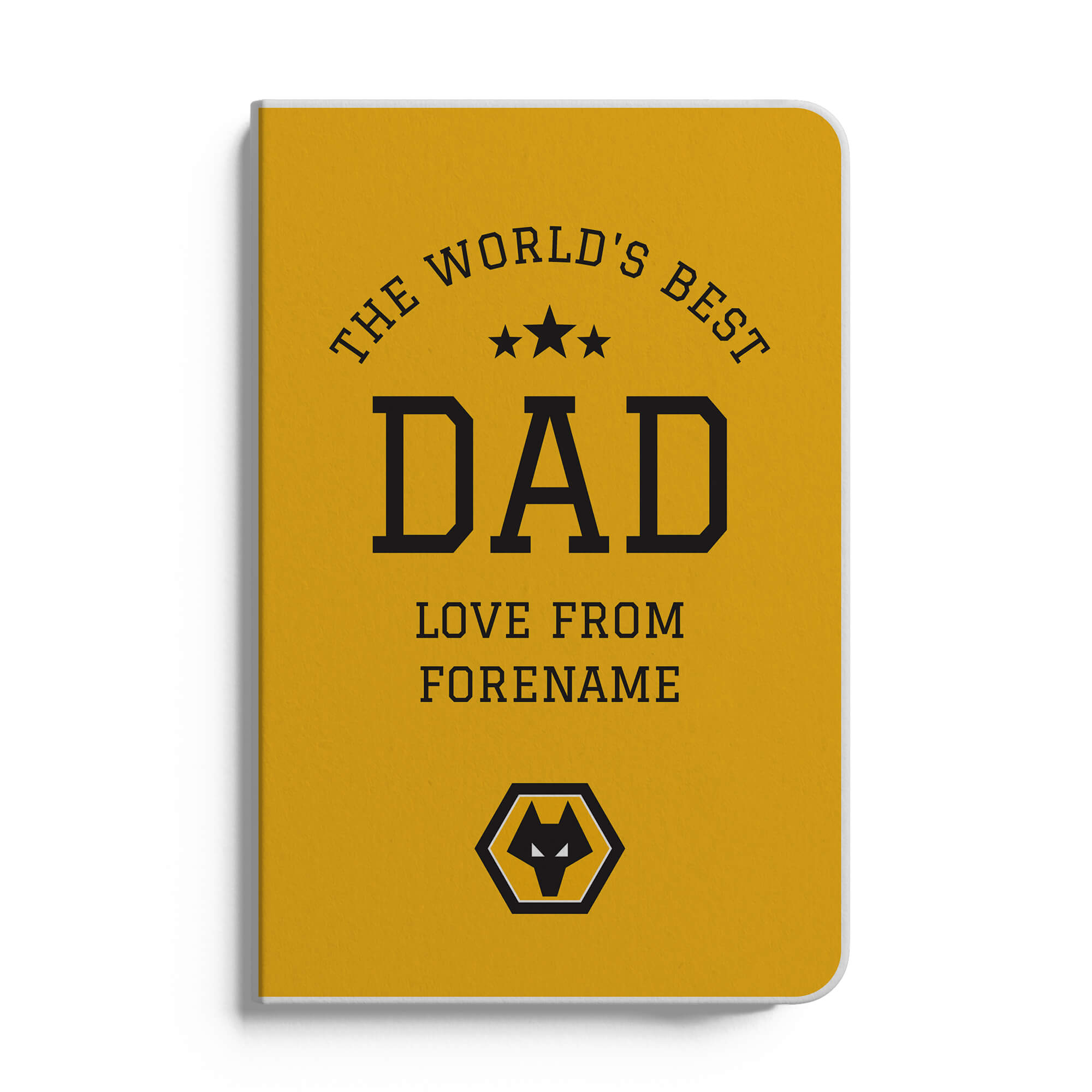 Wolves World's Best Dad A5 White Lined Notebook