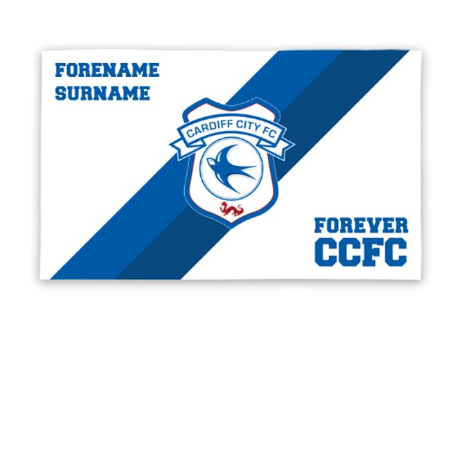 Cardiff City FC Forever 5ft x 3ft Banner