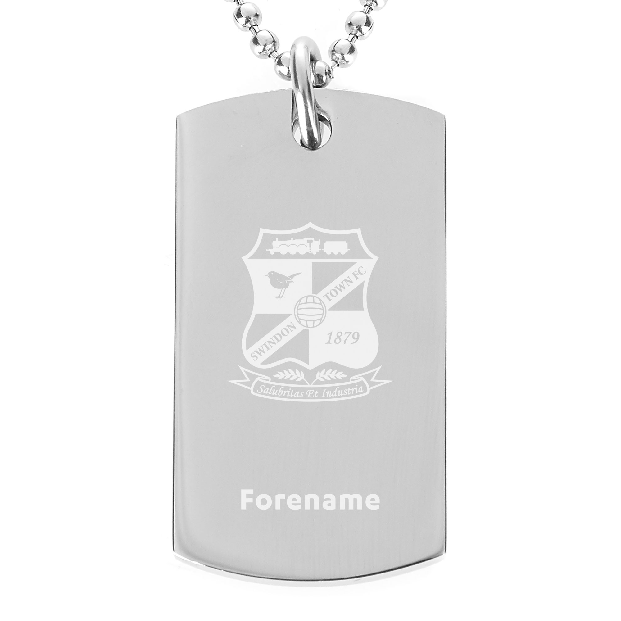 Swindon Town Crest Dog Tag Pendant