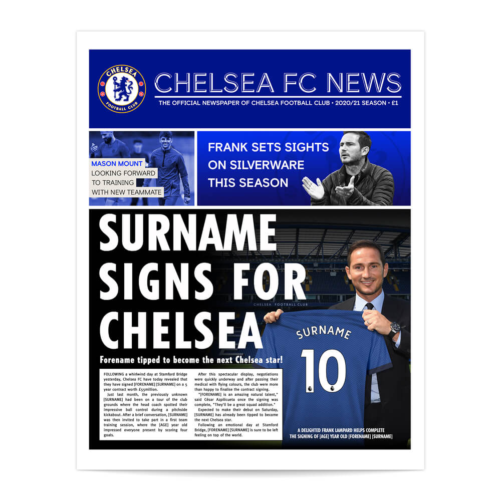 Chelsea FC News Single Page Print