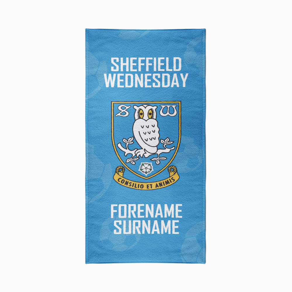 Sheffield Wednesday FC Crest Design Towel - 70cm x 140cm