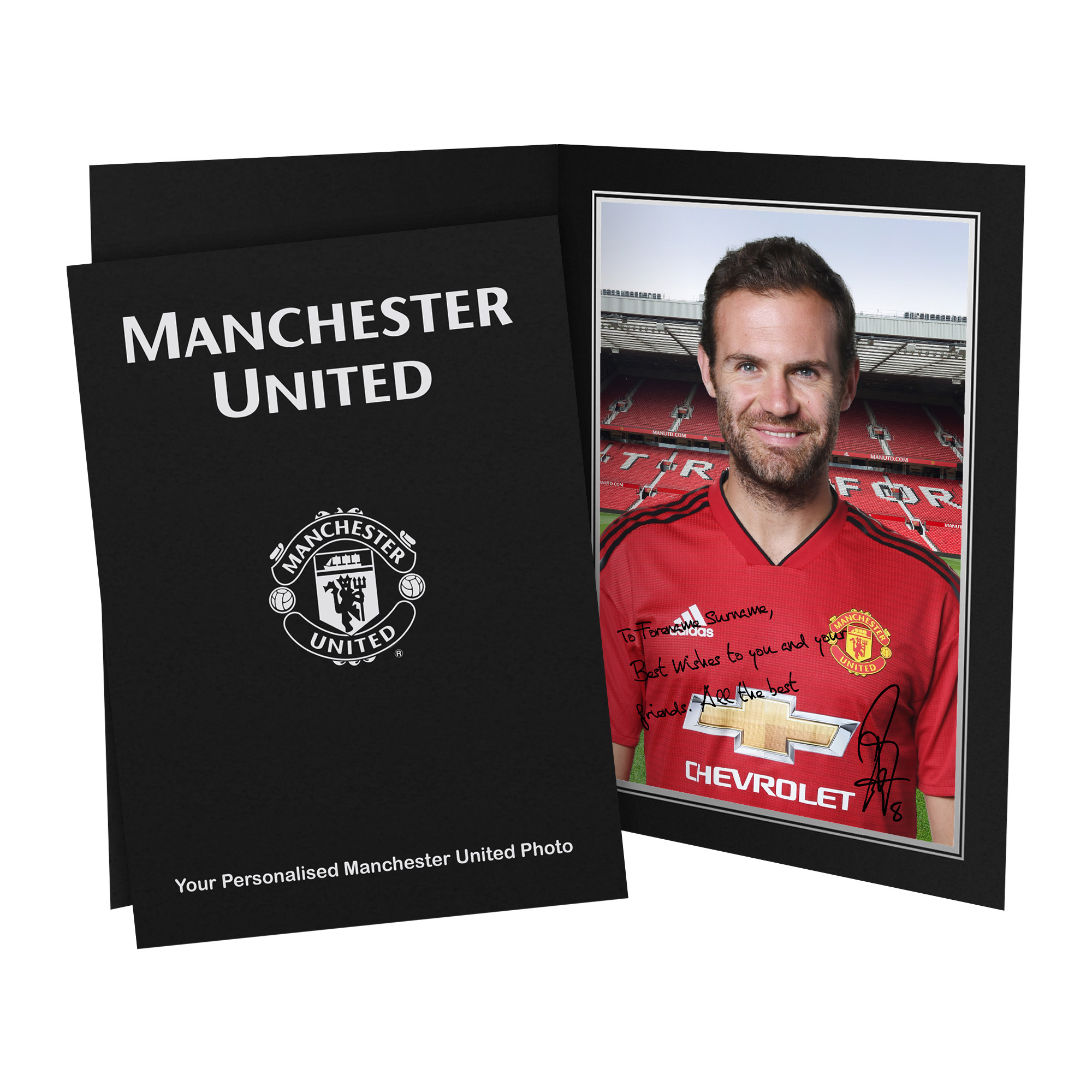 Manchester United FC Mata Autograph Photo Folder