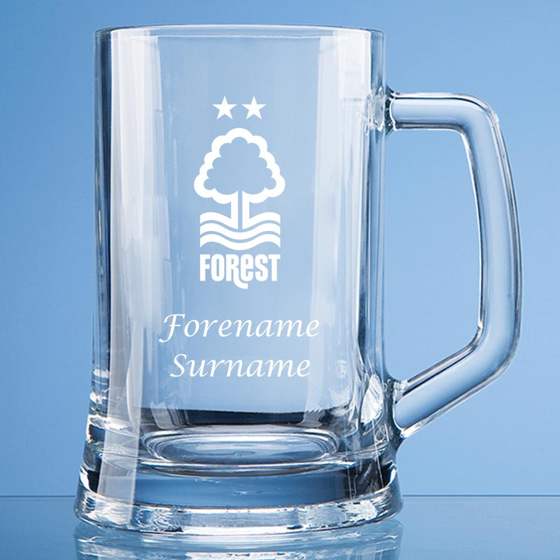 Nottingham Forest FC Crest Large Plain Straight Sided Tankard