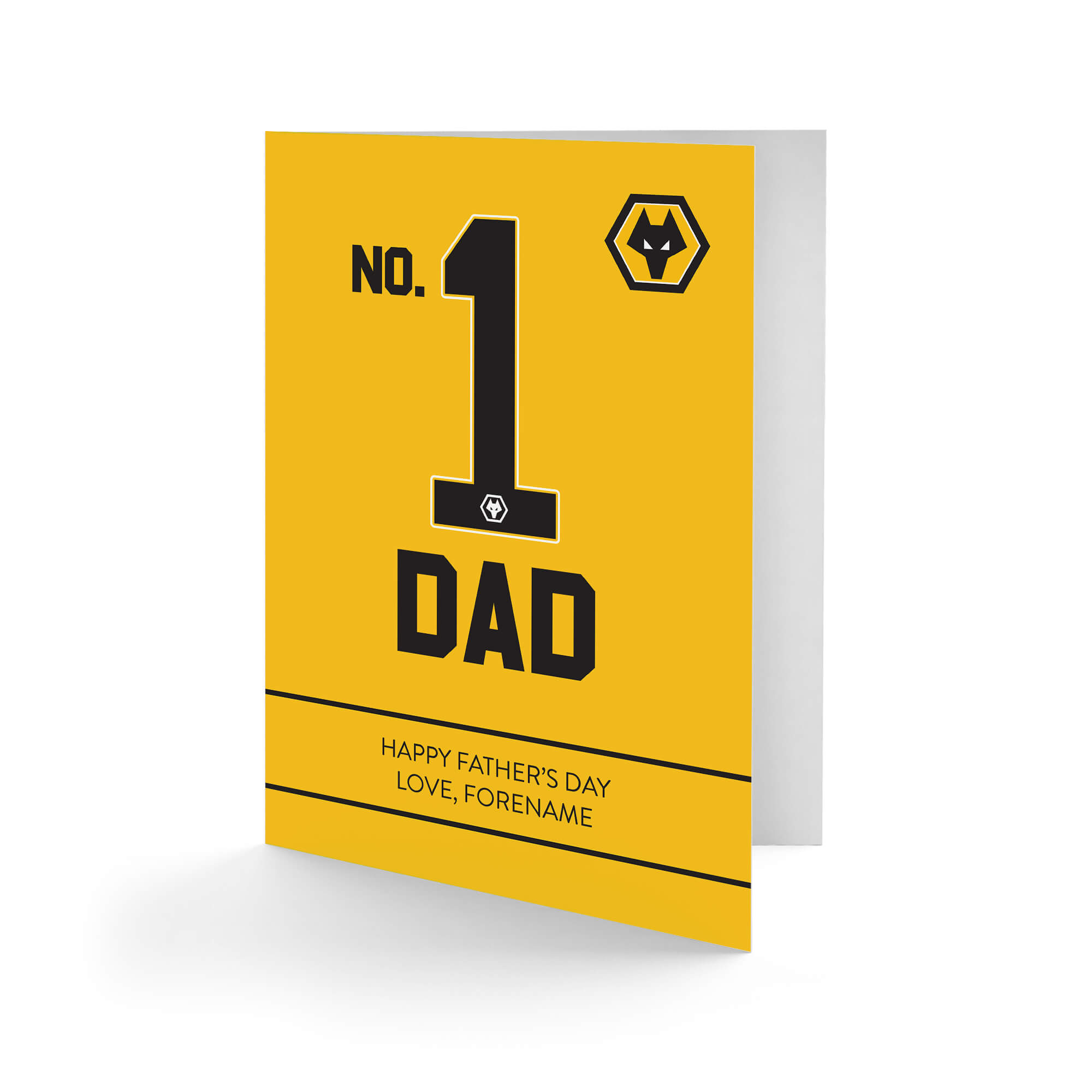 Wolves No.1 Dad Father's Day Card