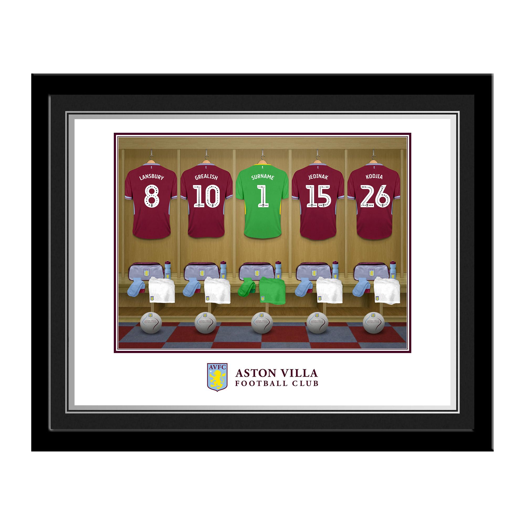 Aston Villa FC Goalkeeper Dressing Room Photo Framed