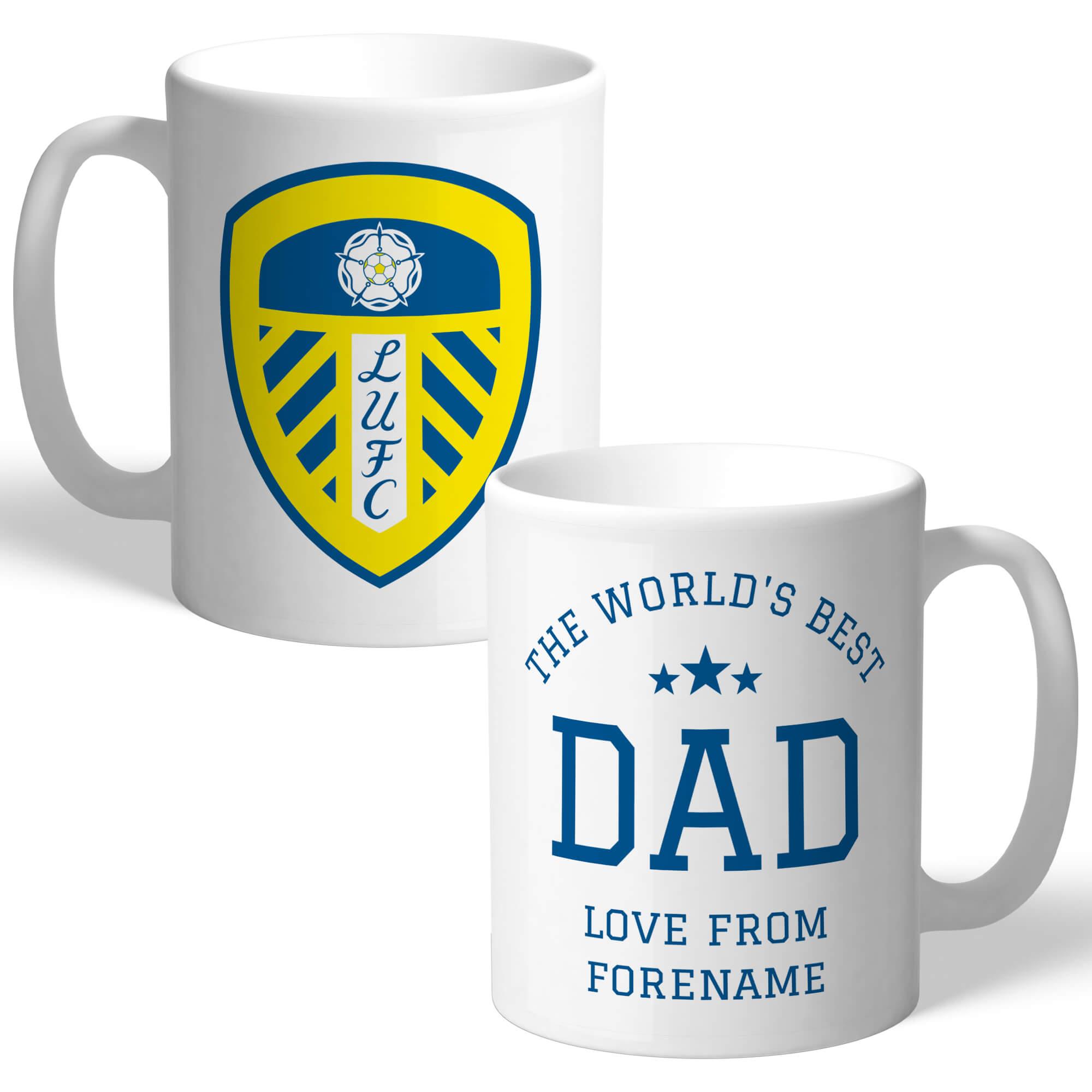 Leeds United FC World's Best Dad Mug