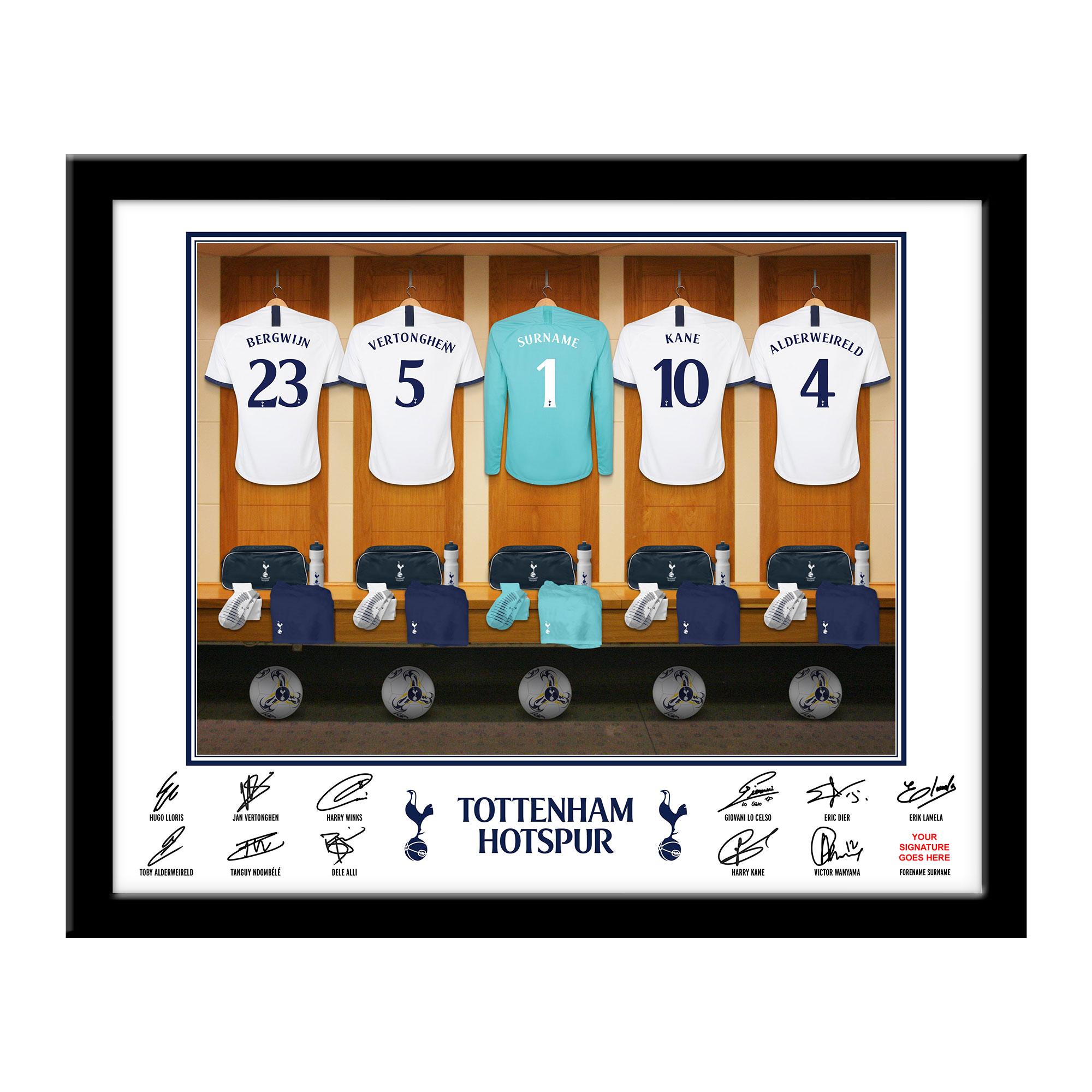 THFC Goalkeeper Dressing Room Framed Print