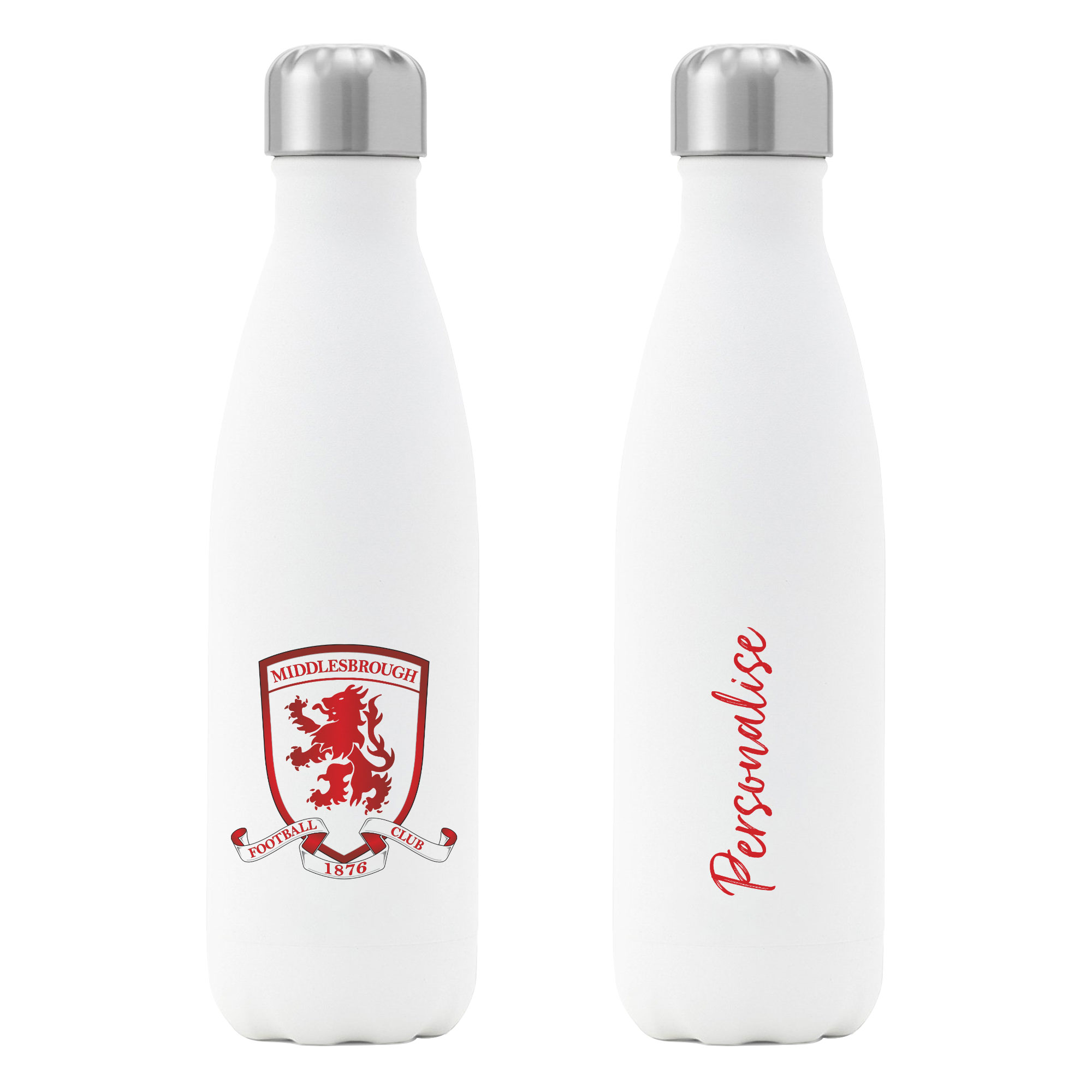 Middlesbrough FC Crest Insulated Water Bottle - White