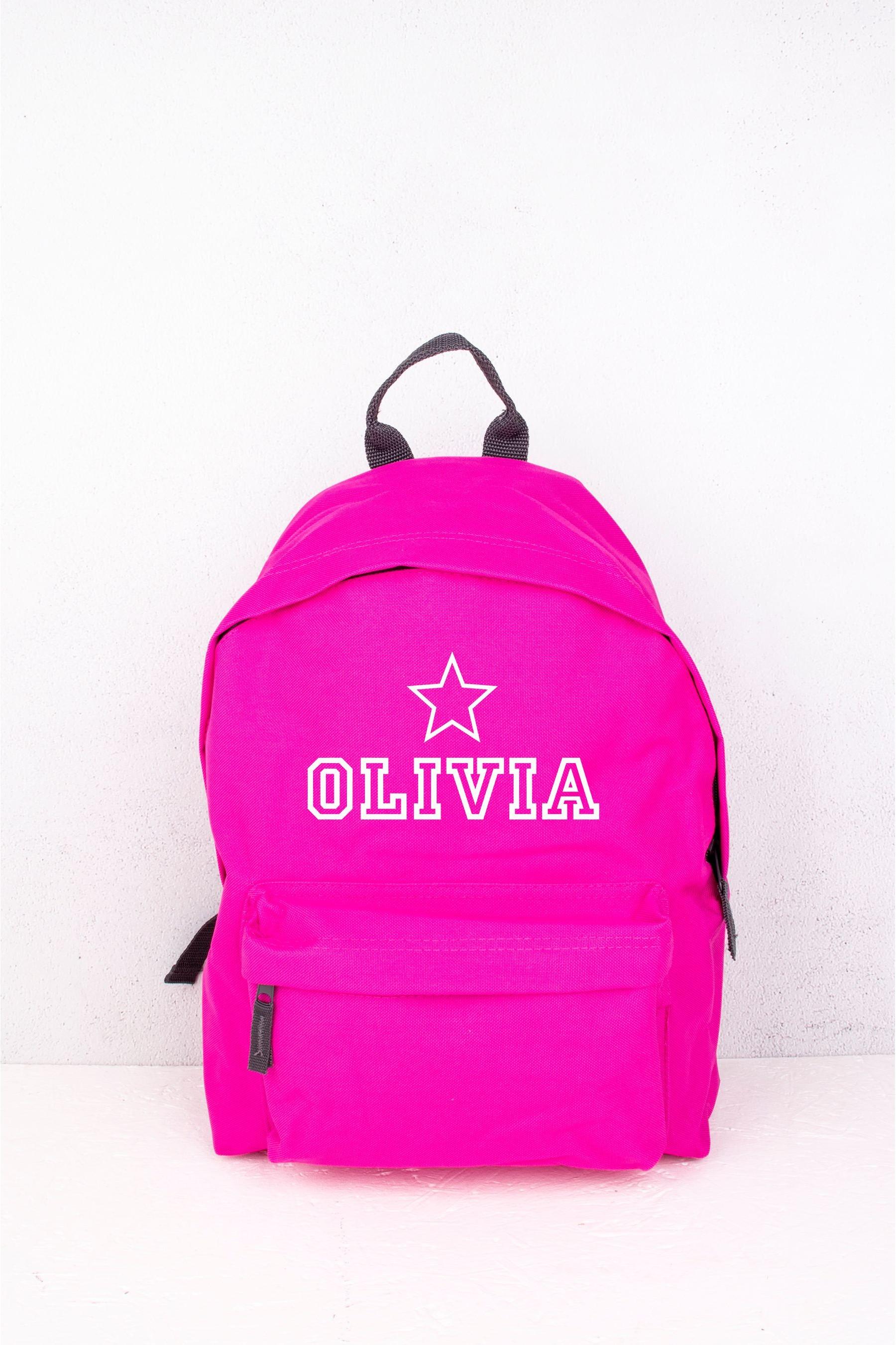 Fuschia Star Backpack