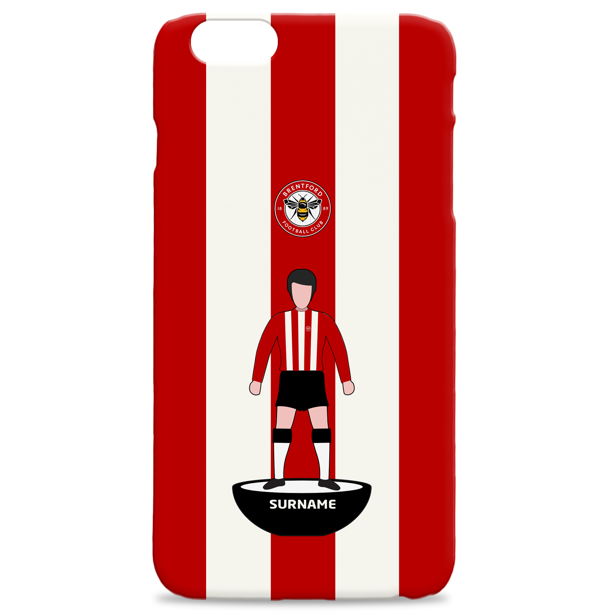 Brentford Player Figure Hard Back Phone Case