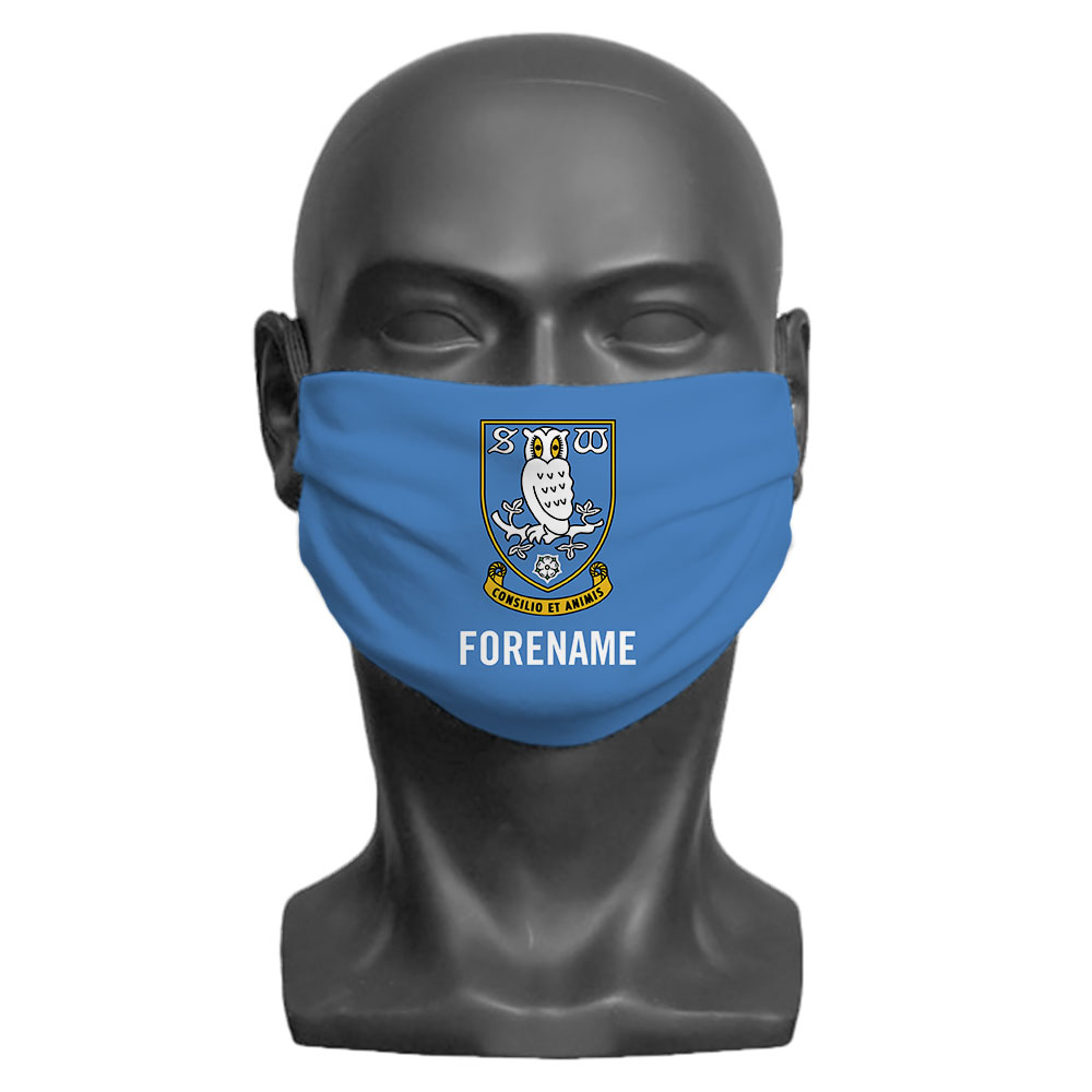 Sheffield Wednesday FC Crest Adult Face Mask (Medium)