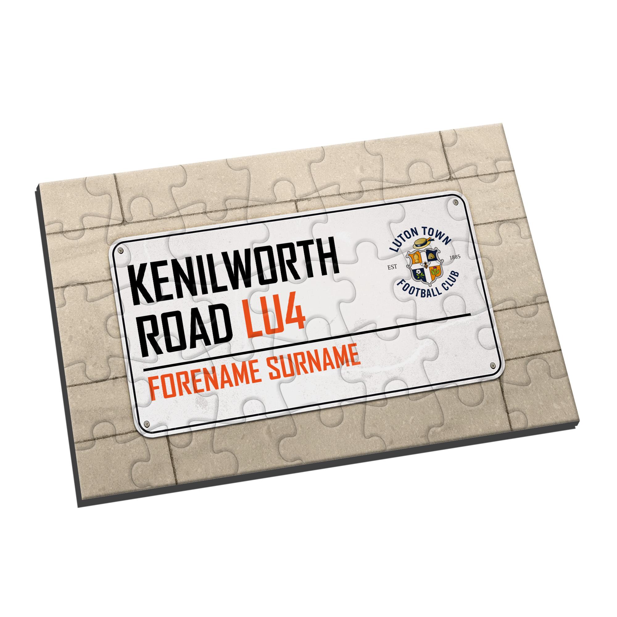 Luton Town FC Street Sign Jigsaw