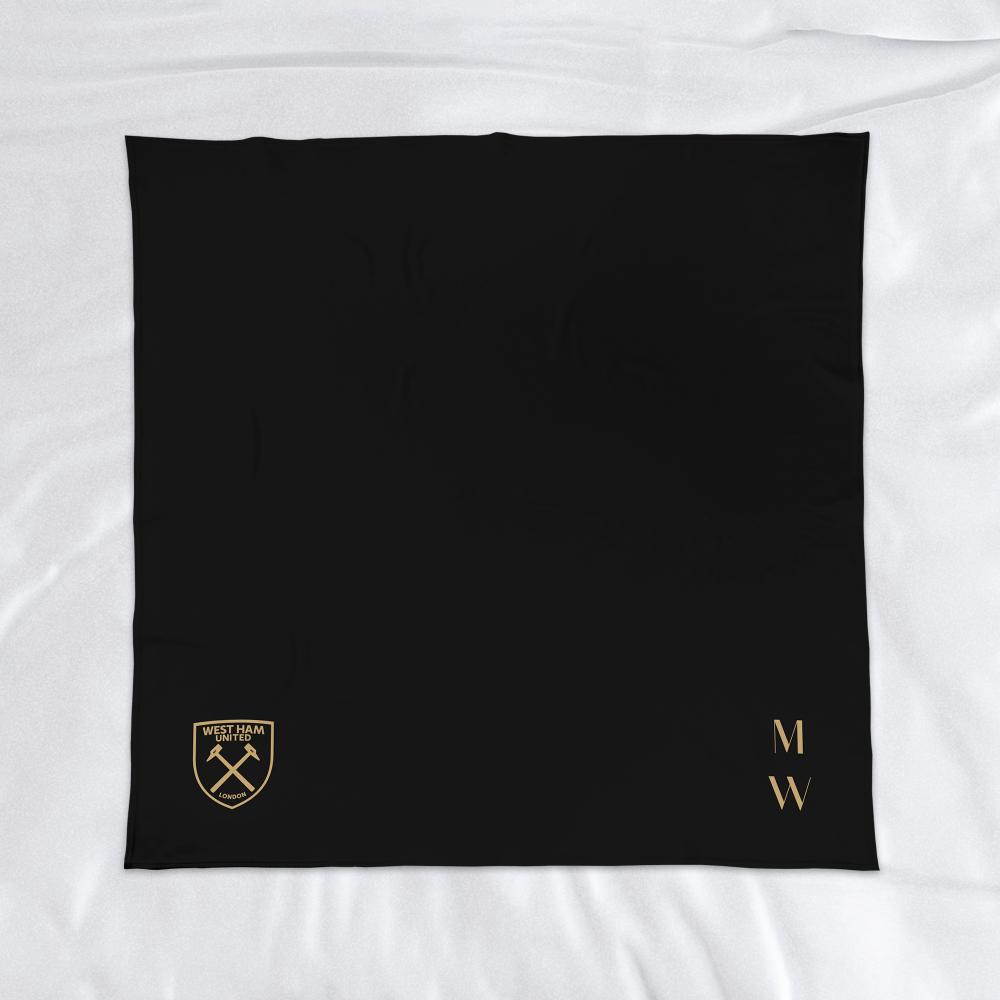 West Ham United FC Initials Fleece Blanket