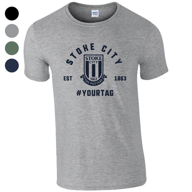 Stoke City FC Vintage Hashtag T-Shirt
