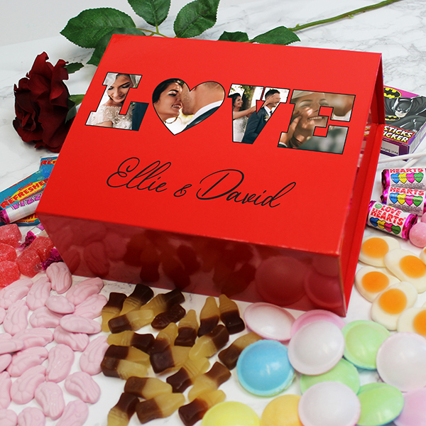 LOVE' Photo Gift - Deluxe Red Retro Sweet Box