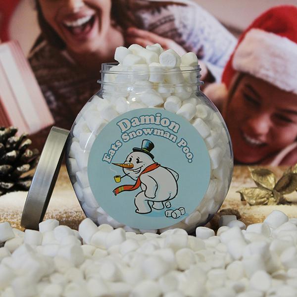 Snowman Poo Jar