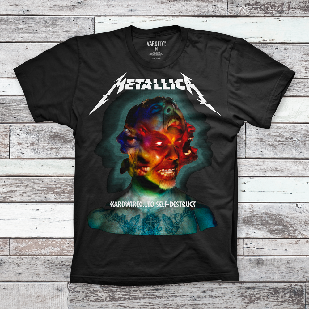 Mens T-Shirt Metallica Hardwired Album Cover