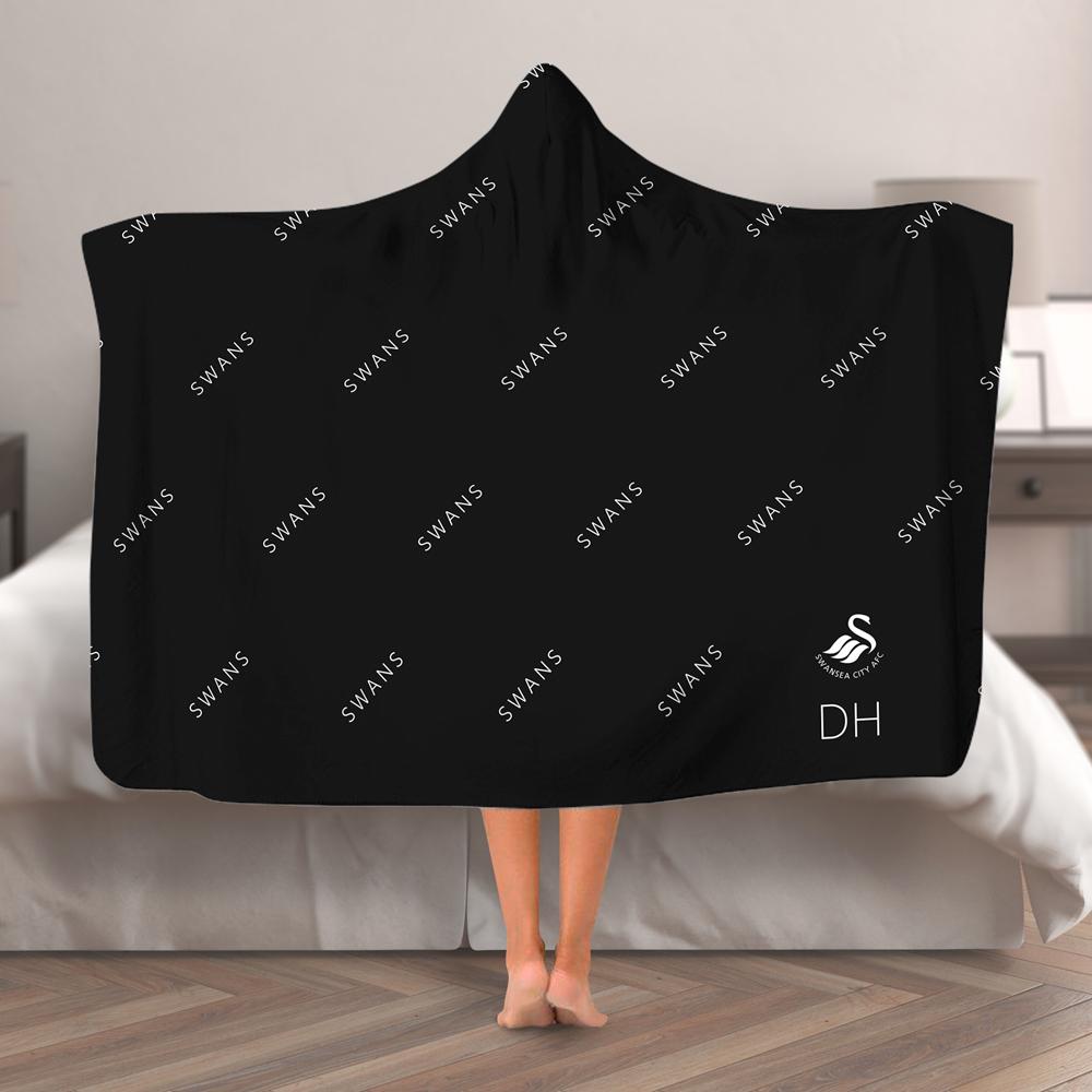 Swansea City AFC Pattern Hooded Blanket (Adult)