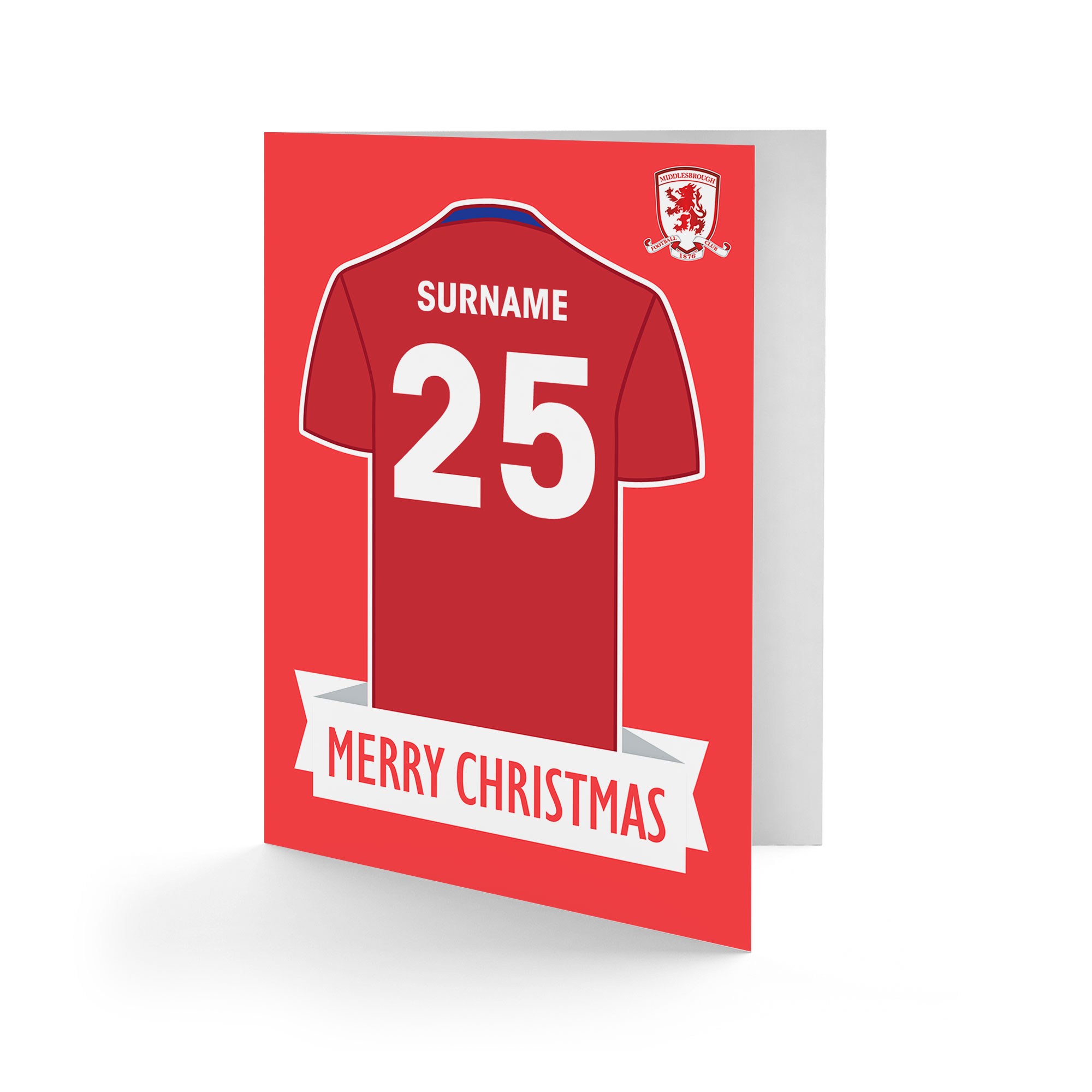 Middlesbrough FC Shirt Christmas Card