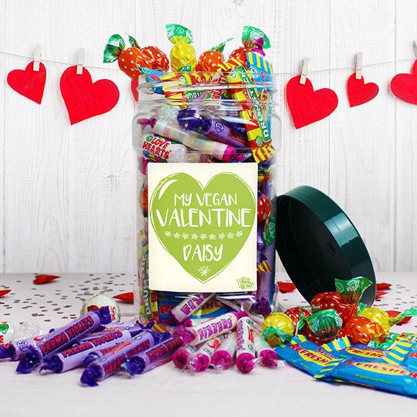 'My Vegan Valentine' Sweet Jar