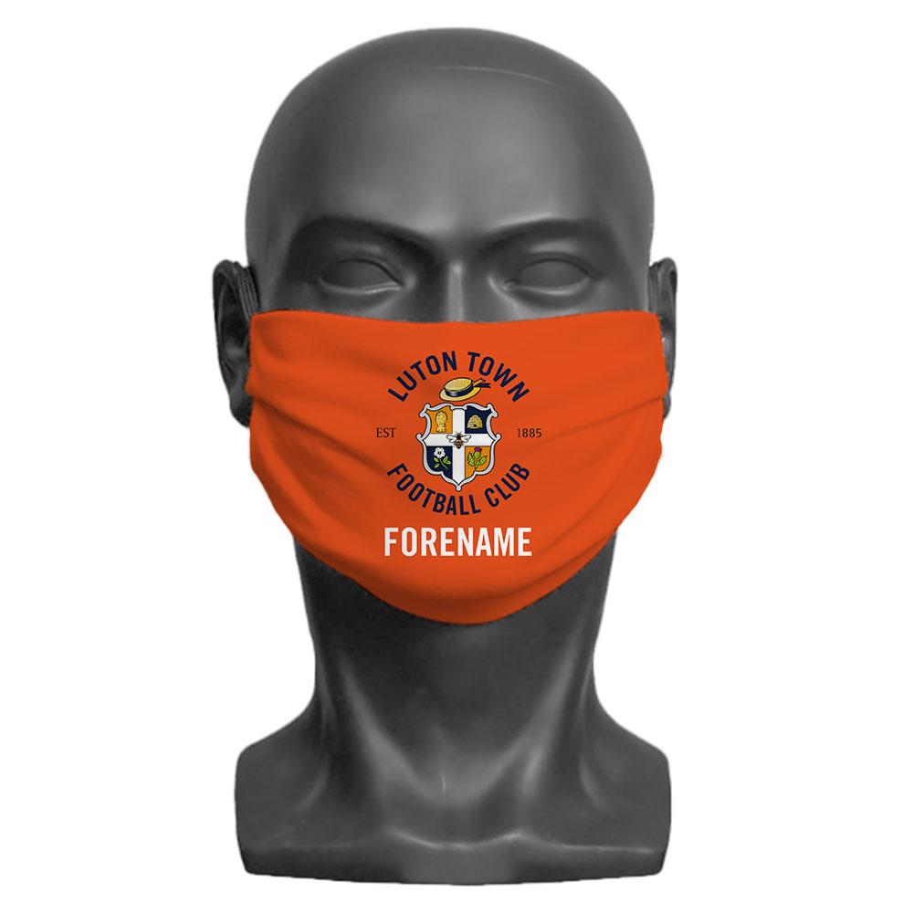 Luton Town FC Crest Adult Face Mask (Large)