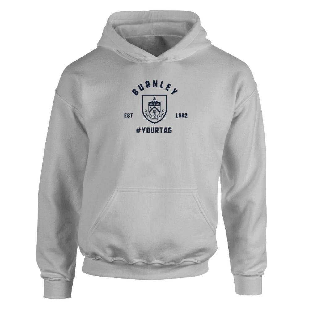 Burnley FC Vintage Hashtag Hoodie